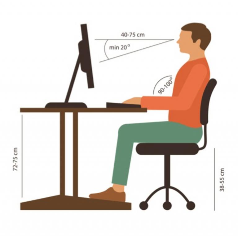 postura corretta seduto ufficio scrivania mal di schiena nadia forte schiena forte